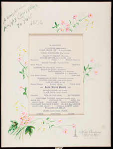 Bright and happy Christmas to you 1898, Hotel Vendome, Boston, Mass., December 25, 1898