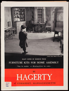 Furniture kits for home assembly, exact copies of museum pieces, fun to make, distinctive to own, by Hagerty of Cohasset, Mass.
