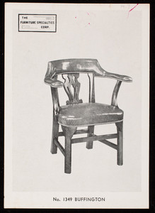 Trade card for Furniture Specialties Corp., chair, 318 East 61st Street, New York, New York