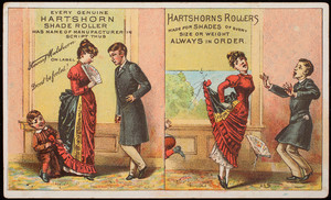 Trade card, Hartshorn Shade Rollers, 486 Broadway, New York, New York