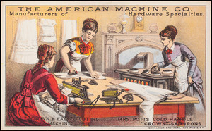 Trade card, The American Machine Co., manufacturers of hardware specialties, Philadelphia, Pennsylvania
