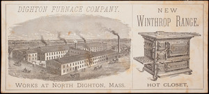 Trade card, Winthrop Ranges, Dighton Furnace Company, North Dighton, Mass.