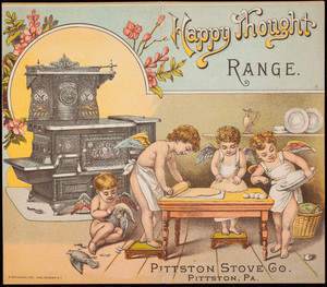 Brochure, Happy Thought Range, Pittston Stove Co., Pittston, Pennsylvania
