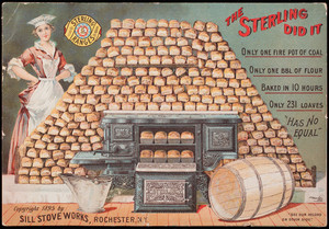 Trade card, Sterling Ranges, Sill Stove Works, Rochester, New York