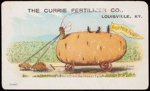 Trade card, The Currie Fertilizer Co., Louisville, Kentucky