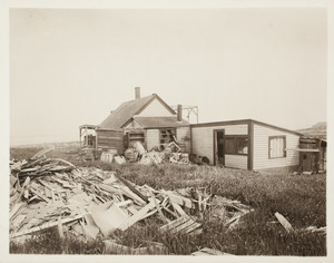 Hen house, right rear corner, Long Island, Boston Harbor, Boston, Mass.
