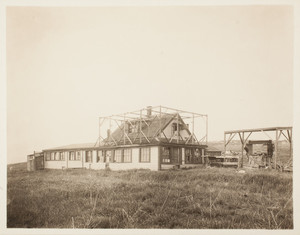 Hen house, front left corner, Long Island, Boston Harbor, Boston, Mass.
