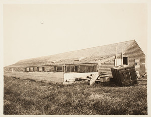 Piggery, front left corner, Long Island, Boston Harbor, Boston, Mass.