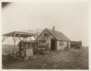 Hen house, front right corner, Long Island, Boston Harbor, Boston, Mass.