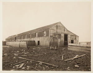 Piggery, rear right corner, Long Island, Boston Harbor, Boston, Mass.