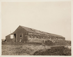Piggery, right front corner, Long Island, Boston Harbor, Boston, Mass.