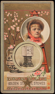Trade card, Golden Star Oil Stoves, Myers, Osborn & Company, Cleveland, Ohio