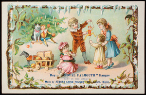 Trade card, buy Royal Falmouth Ranges, made by Auburn Stove Foundry Co., Auburn, Maine