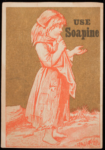 Trade card for Soapine, cleanser, Kendall Mfg. Co., Providence, Rhode Island, undated