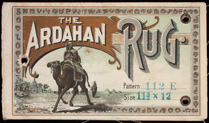 Label, The Ardahan Rug, manufactured by The Read Carpet Co., Bridgeport, Connecticut