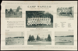 Brochure for Camp Wapello, Crotch Island, Friendship, Maine