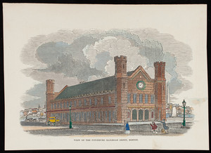View of the Fitchburg Railroad Depot, Boston, Mass.