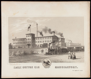 Eagle Cotton Gin Manufactory, Bridgewater, Mass.
