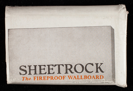 Sample, USG Sheetrock, wall and ceiling material, United States Gypsum Company, 205 West Monroe Street, Chicago, Illinois, undated