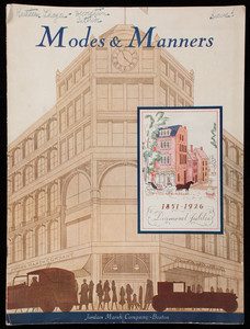 Modes & manners, vol. 2, no. 5, February 1926, Jordan Marsh Company, Boston, Mass.