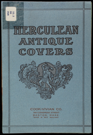 Herculean Antique Covers, American Writing Paper Co., Manchester, Connecticut
