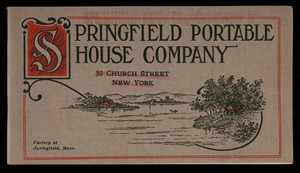 Catalog, Springfield Portable House Company, 50 Church Street, New York, New York