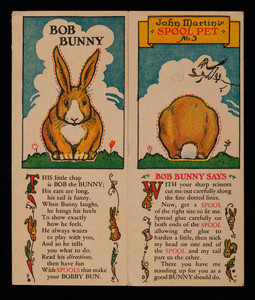 Bob Bunny, Spool Cotton Co., Newark, New Jersey