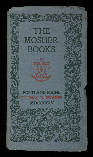 Mosher Books, Thomas B. Mosher, Portland, Maine