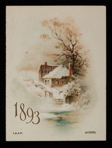 Calendar 1893, Albert F. Davis, books and stationery, 167 Westminster Street, Providence, Rhode Island