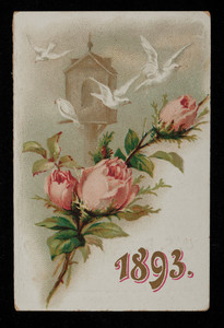 Calendar 1893, United States Dental Association, Music Hall, Providence, Rhode Island