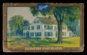 Box, Kemp's signature chocolates, E.F. Kemp, Somerville, Mass.