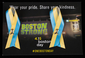 Ribbon pins, wear your pride, share your kindness, Boston Strong, Boston, Mass.