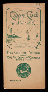 Cape Cod and Vicinity Road Map and Hotel Directory