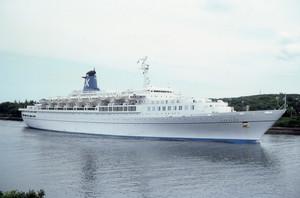 Galileo in Passage Through Cape Cod Canal, 1984