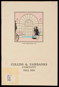 Fall styles, 1929, Collins & Fairbanks Co., 383 Washington Street, 16 Bromfield Street, Boston, Mass.