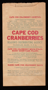 Cape Cod Cranberries: brown paper bags with recipes (2)