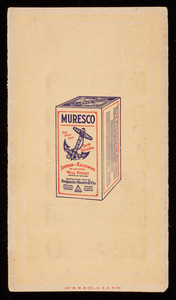 Muresco white and tints for wall and ceiling decoration, manufactured only by Benjamin Moore & Co., New York, New York
