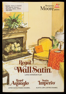 Regal Wall Satin Latex Interior Flat, Benjamin Moore & Co., Montvale, New Jersey