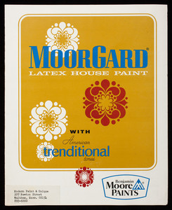MoorGard Latex House Paint with American trenditional tones, Benjamin Moore Paints, Benjamin Moore & Co., Montvale, New Jersey