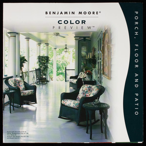 Benjamin Moore color preview, porch, floor and patio, Benjamin Moore & Co., Montvale, New Jersey