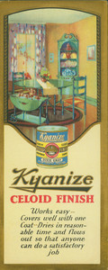Brochure for Kyanize Celoid Finish, Boston Varnish Company, Everett Station, Boston, Mass.