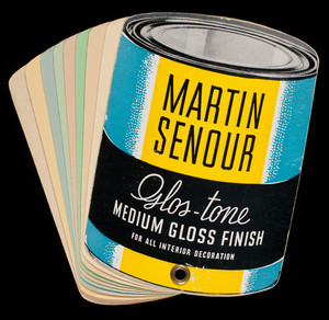 Martin Senour Glos-Tone Medium Gloss Finish for all interior decoration, 2520 Quarry Street, Chicago, Illinois