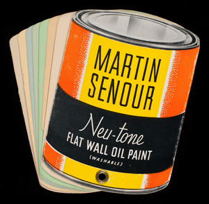 Martin Senour Neu-tone Flat Wall Oil Paint, 2520 Quarry Street, Chicago, Illinois