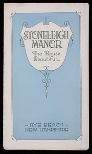 Brochure, Stoneleigh Manor, the house beautiful, Rye Beach, New Hampshire