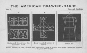 American drawing-cards, second series, James R. Osgood & Co., No. 211 Tremont Street, Boston, Mass.