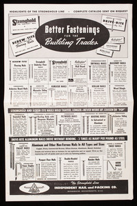 Better fastenings for the building trades, Independent Nail and Packing Co., Bridgewater, Mass.