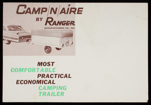 Camp N Aire, by Ranger Manufacturing Co., Inc. P.O. Box 105, Jackson, Michigan