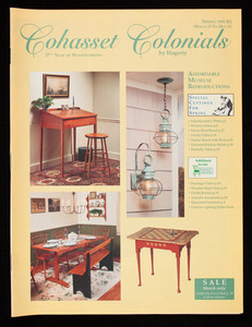 Cohasset Colonials by Hagerty, spring 1995, March 15 to May 15, Parker Avenue, Cohasset, Mass.