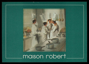 Postcard, Maison Robert, 45 School Street, Boston, Mass.