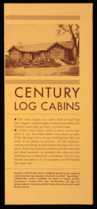 Century Log Cabins, Century Wood Preserving Company, Park Square Building, Boston, Mass.